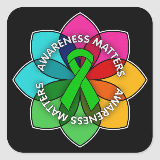 Organ Donor Awareness Matters Petals Square Sticker