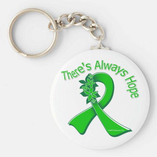 Organ Donor Awareness There's Always Hope Floral Keychain