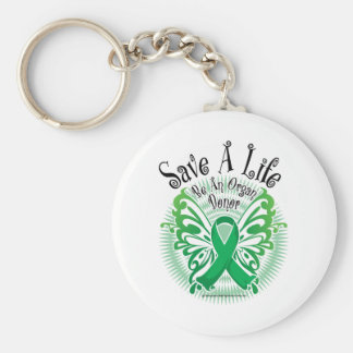 Organ Donor Butterfly 3 Key Ring