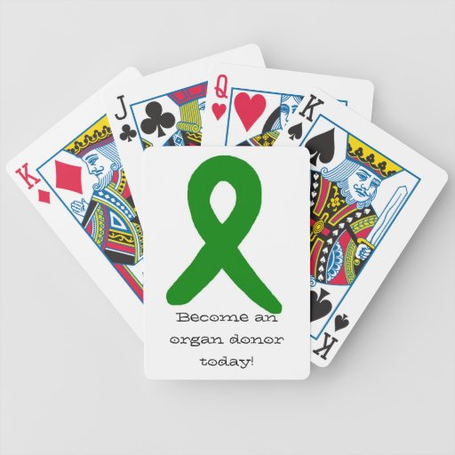 Organ donor cards playing cards
