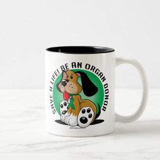 Organ Donor Dog Two-Tone Coffee Mug