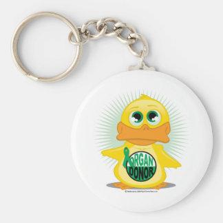 Organ Donor Duck Basic Round Button Key Ring