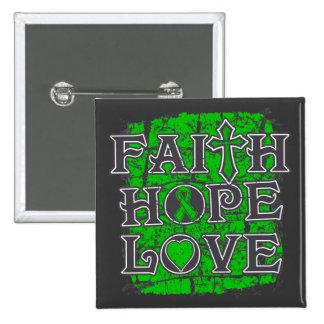 Organ Donor Faith Hope Love Pinback Buttons