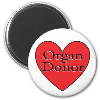 organ donor heart 6 cm round magnet