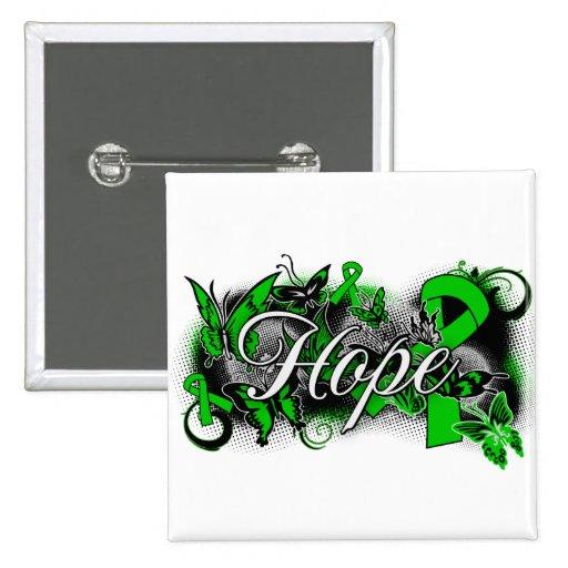 Organ Donor Hope Garden Ribbon Pinback Button