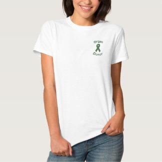 Organ Donor Ribbon Embroidered Shirt