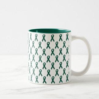 Organ Donor Ribbon Two-Tone Mug