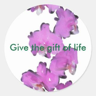organ donor round sticker