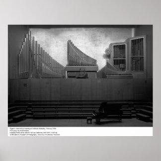 Organ in Hertz Hall, UC Berkeley, 1966 Poster