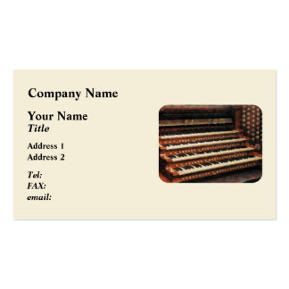 Organ Keyboard Business Card Templates