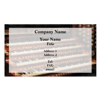 Organ Keyboard Pack Of Standard Business Cards