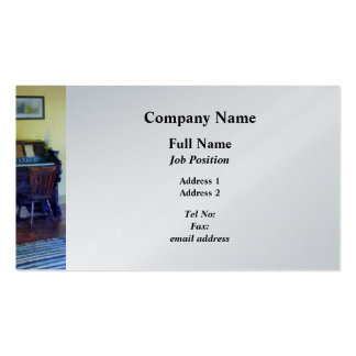 Organ With Hurricane Lamp - Platinum Finish Pack Of Standard Business Cards