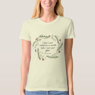 "Organic Anne of Green Gables ""Just You"" Ladies Tee"