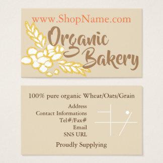 Organic Bakery Business Card