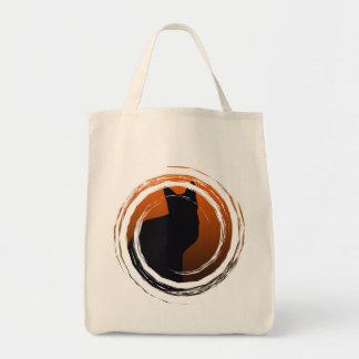 Organic Black Cat Halloween Trick Or Treat Bag