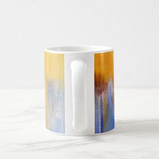 Organic Blue and Yellow Abstract Mug