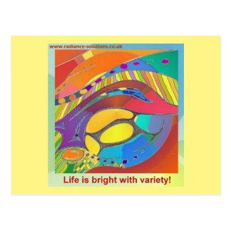Organic Bold LifeScan Art Postcard with wording
