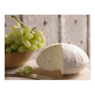 organic cheese on board postcard
