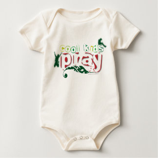 Organic Christian baby vest - Cool kids pray Baby Bodysuit