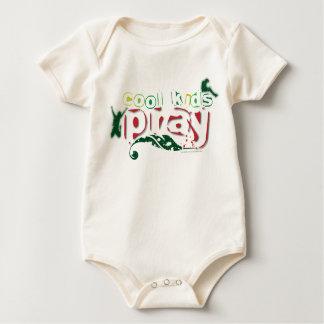 Organic Christian baby vest - Cool kids pray Rompers