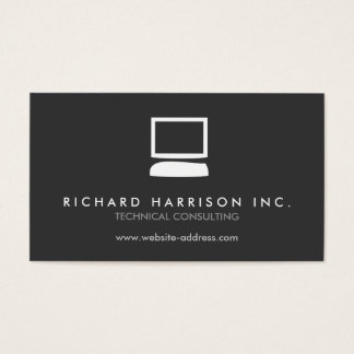 ORGANIC COMPUTER LOGO White/Gray Business Card