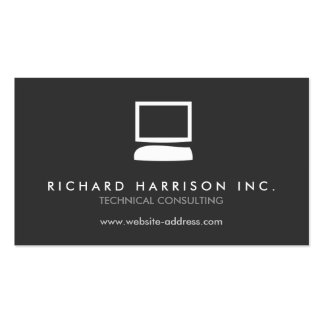 ORGANIC COMPUTER LOGO White Gray Business Card