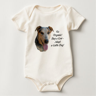 Organic Cows & Cattle Dogs Baby Bodysuit