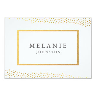 Organic dots faux foil place card