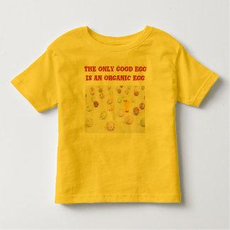 Organic egg toddler shirt