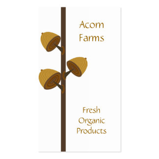 Organic Farm with Acorn Pack Of Standard Business Cards