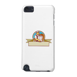 Organic Farmer Harvest Basket Circle Ribbon Retro iPod Touch (5th Generation) Case