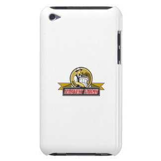 Organic Farmer Harvest Farms Circle Retro iPod Touch Cases