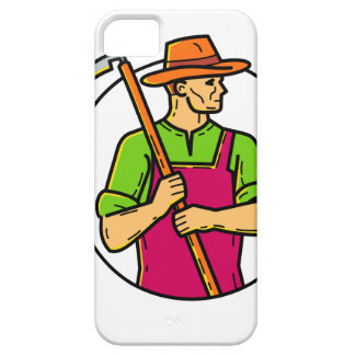 Organic Farmer Scythe Mono Line Art Barely There iPhone 5 Case