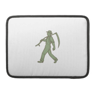Organic Farmer Scythe Walking Mono Line Sleeve For MacBook Pro