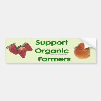 Organic Farmers Bumper Sticker