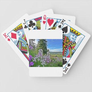 organic farming bicycle poker cards