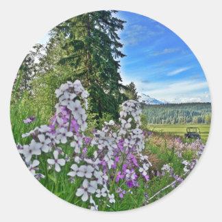 organic farming round sticker