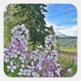organic farming square sticker