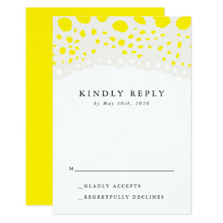 Organic Field Reply Card // Yellow