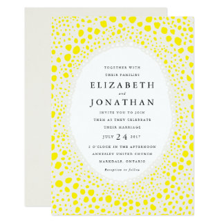 Organic Field Wedding Invitation // Yellow