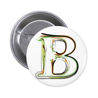 Organic Font illustration 6 Cm Round Badge