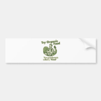 Organic Food Car Bumper Sticker
