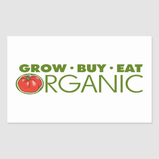 Organic Food Rectangular Sticker