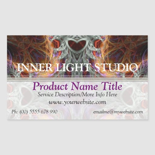 Organic Fractal Love Product Label Sticker