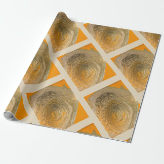 Organic Geometry Gift Wrapping Paper in Orange