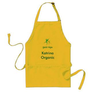 Organic Girl Logo Customize with your name Standard Apron