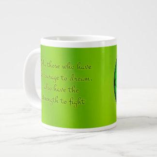 Organic Green Mandala Large Coffee Mug