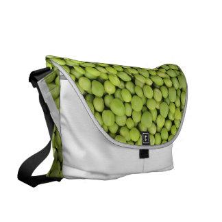 Organic green peas commuter bag