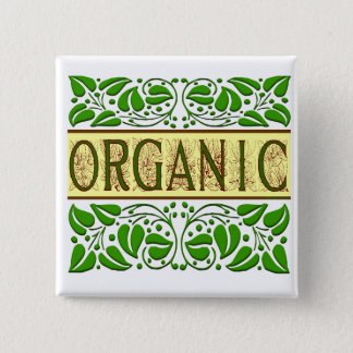 Organic Green Slogan Button