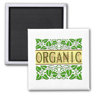 Organic Green Slogan Magnet